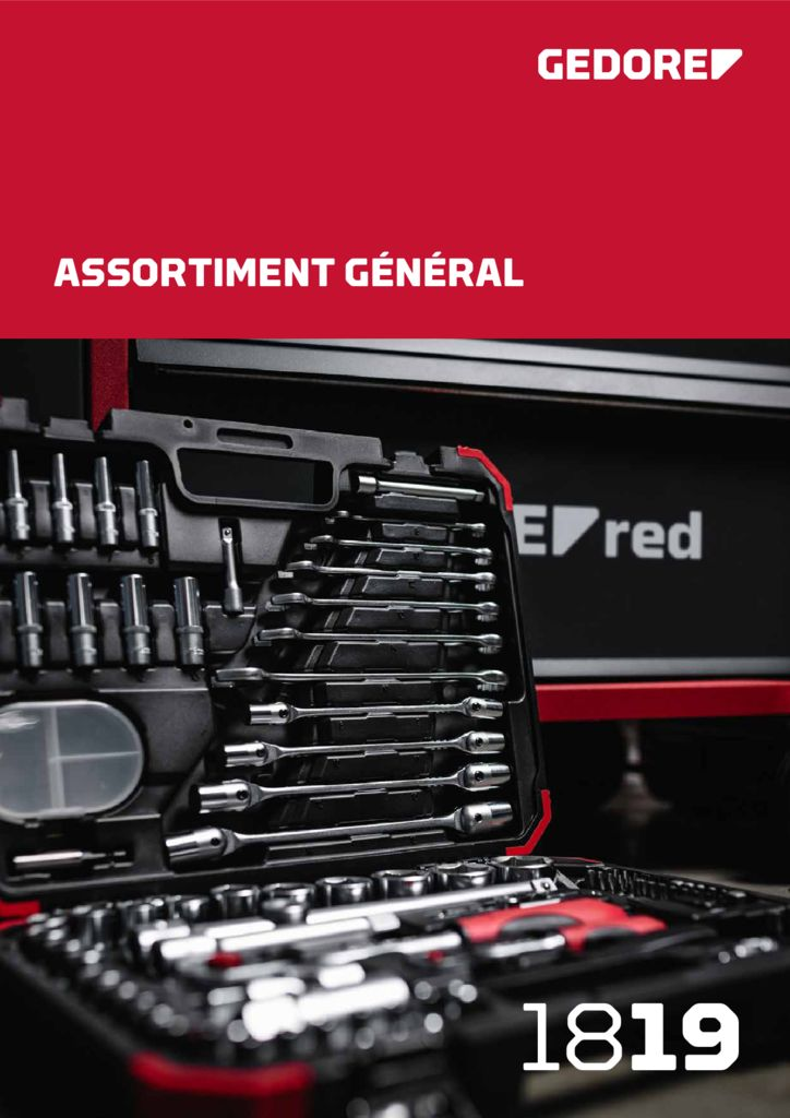 thumbnail of CATALOGUE GEDORE RED assortiment